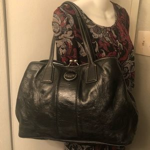 Coach Stitch Patent Business Carryall Tote Handbag
